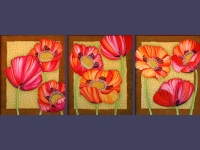 Triptych Poppies